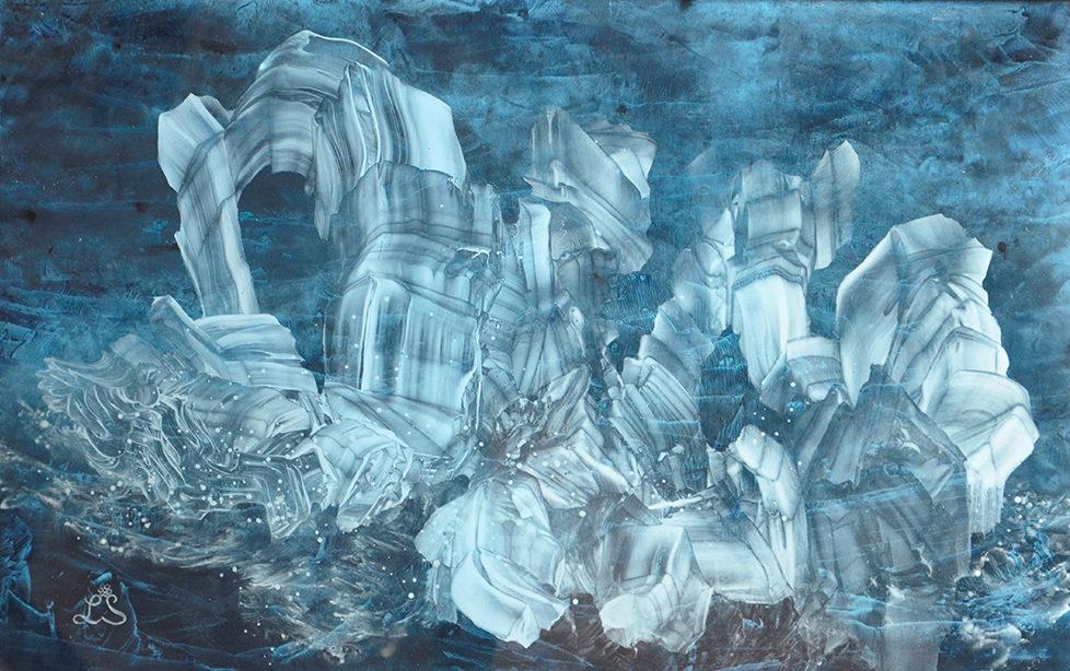 Glacier vibrant d'amour